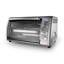 BLACK+DECKER Countertop Convection Toaster Oven, Stainless Steel, CTO6335S - $61.59
