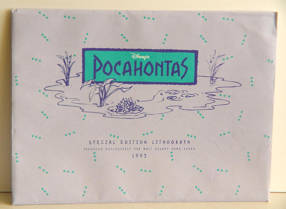 Official Commemorative  Disney Pocahontas & John Smith Litho