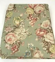 Ralph Lauren Charlotte Sheet Floral Green Sage Roses Remnant Cutter Craft Flaws - $19.79