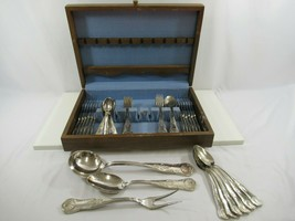Silver Plated Flatware Set ARG 800 X 51 Pieces Vintage Italy Complete Vi... - $193.32