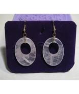 Handcraft Gems Rose quartz silver gold wire/dangle/clip back earring - $8.50