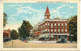 Main and North Streets Granville New York1945 Post Card - $5.00