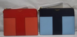 TORY BURCH Block-T Large Pouch, Clutch in Blue or Red 11169013, $235 - £116.43 GBP