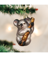 OLD WORLD CHRISTMAS KOALA BEAR ZOO ANIMAL GLASS CHRISTMAS ORNAMENT 12356 - $12.88