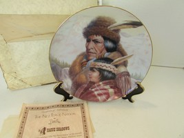 HAMILTON COLLECTOR PLATE NEZ PERCE NATION PERILLO 7TH AMERICA'S INDIAN 3... - $5.95