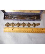 Vintage Siam Bangkok Sterling Silver Melloware Bracelet Original Box Bra... - $108.90