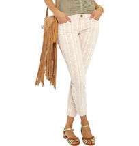 NWT Current Elliott Jeans The Stiletto in Stripe Floral Rose Smoke pink ... - $61.68