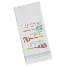 "You Are So Flippin Awesome Dish Towel Funny Kitchen New 100% Cotton 18"" ... - $13.85"