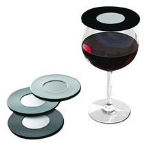 Drink Tops Outdoor Ventilated Wine Glass/Drink Covers, 4pk- Black/Grey, ... - €25,30 EUR