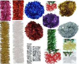 Luxury Chunky Thick Xmas Tinsel Garland Tree Home Christmas Party Decora... - $1.27+