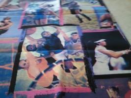 Girls Basketball Tennis Soccer Sports Photo Fabric  - $29.00
