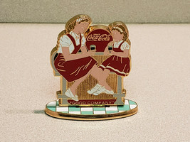 "1999 Drink Coca-Cola ""Good Company"" Weighted Small Stand - $9.85"