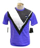 Nike Court New York Challenger Purple Short Sleeve Tennis Top Men's NWT - $59.99