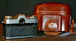 Zeiss Ikon Contaflex Super Camera with hard leather Case AA-192015 Vintage image 4