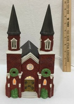 Department 56 Brick Abbey Church Dickens Village Dept. Heritage Christmas House - $54.44