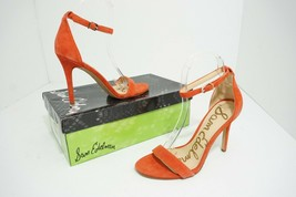 Sam Edelman Amee Women's High Heels Sandals Havana Red Suede Size US 6.5 M - $67.80