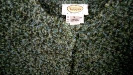 Talbots Petites Women's M Blue Green Wool Snap Buttons Sweater Cardigan image 4