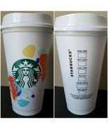 Starbucks 2020 Summer Floral Reusable/Recyclable 16 oz Grande Hot Cup NE... - $14.73