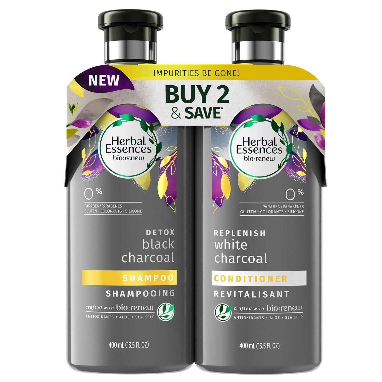 Herbal Essences Bio:Renew Charcoal Shampoo & Conditioner 13.5 oz./ 400 ml, 2 pk.