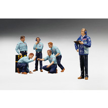 F1 Pit Crew Figures Team Tyrrell 1976 Set of 6pc 1/18 by True Scale Mini... - $76.87