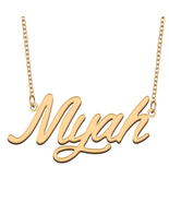Myah Name Necklace for Best Friends Family Girl Friend Birthday Gifts - $13.99+