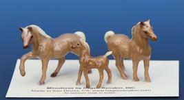 Hagen Renaker Miniature Horse Tiny Chestnut Family Mare Stallion Colt Set of 3
