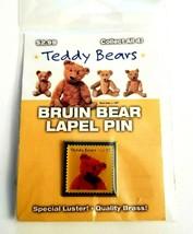 USPS Teddy Bears USA 37 Cent Postage Stamp Brass Enamel Bruin Beat Lapel... - $7.80