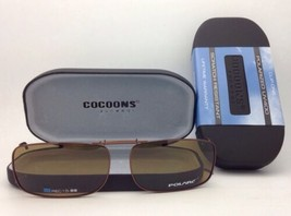 COCOONS Amber Polarized Sunglasses/Eyeglasses Over Rx Clip-on REC 15-56 Bronze