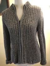 Talbots Cardigan Sweater Large Petite Zipper - $22.76