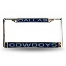 dallas cowboys nfl football team logo laser chrome license plate frame u... - $28.49