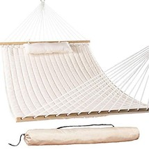 "Lazy Daze Hammocks 55"" Double Quilted Fabric Hammock Swing with Pillow a... - $68.01"