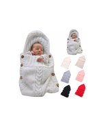 Newborn Baby Wrap Swaddle Blanket Toddler Knit Sleeping Bag Sack Strolle... - $15.83