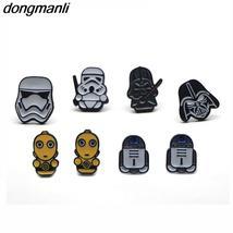 WS1034 Dongmanli wholesale 20 pair / lot Women Earrings Cartoon Cool Dark Warrio - $92.99+