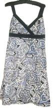 WHITE PRINTED V NECK DRESS SIZE 10 - $12.00