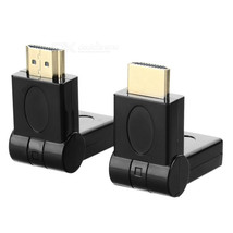 HDMI Male to Female 180 Degree Rotary Adapters - Black (2PCS) - $10.91