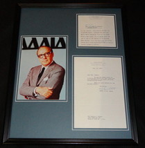 Jack Benny 16x20 Framed 1963 Chicken Recipe Letter & Photo Display - $140.24