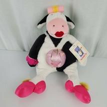 Manhattan toy 2003 Stuffed Plush Black White Cow Tiptoes Touche Gladys P... - $98.99