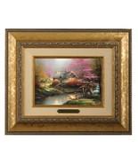 Thomas Kinkade Stepping Stone Cottage 5 x 7 Brushwork (Gold Frame) - $89.00
