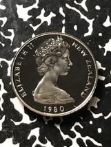 1980 New Zealand 10 Cents Lot#X3420 Proof - $6.80
