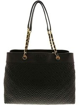 Tory Burch Women's Tory Burch Fleming Triple Compartment Black Leather S... - $468.00
