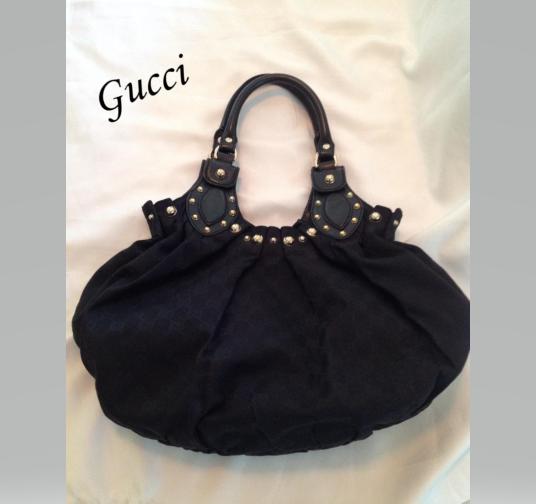 Gucci Black Guccissima Medium Pelham Shoulder Bag with Dustbag and Booklet