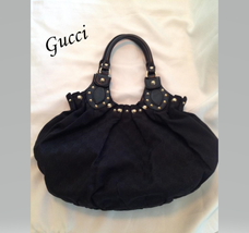 Gucci Black Guccissima Medium Pelham Shoulder Bag with Dustbag and Booklet - $895.00