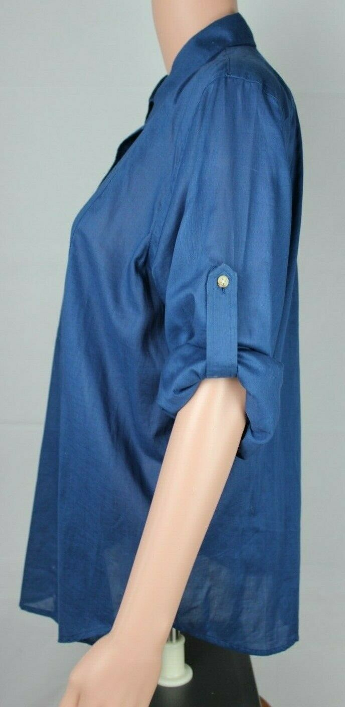 Lauren Ralph Lauren women's shirt blue long sleeve button front size L