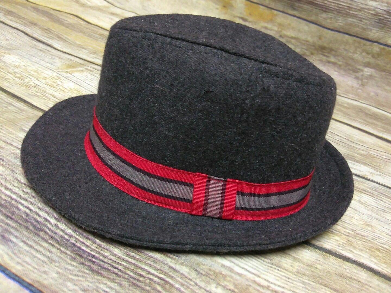 Old Navy Baby Boys Fedora Hat Dark Gray Wool Blend Size 0-6 Months e93f7d0bc6b