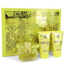 Versace Yellow Diamond EDT Spray 1.7 Oz + Body Lotion 1.7 Oz + Shower Gel 1.7 Oz image 3