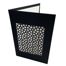 Handmade Black Color Hand Cut Paper Sanjhi Art Crafted Greeting Card - $14.03