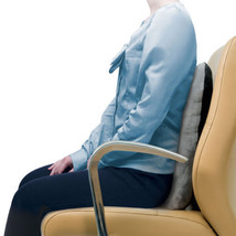 Back Support Posture Pillow Cushion - Gray - Lumbar Car Pain Relief Travel - $24.72