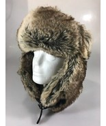 H&M Unisex One Size Ushanka Faux Fur Brown Bomber Trapper Hat - $33.81