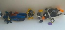 Imaginext Lot Batman Boat Scuba Driver Penguin Submarine Umbrella  - $33.85