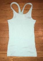 Total Girl aqua blue stretch ribbed tank top shirt 5 - 6, medium 8 - $3.95